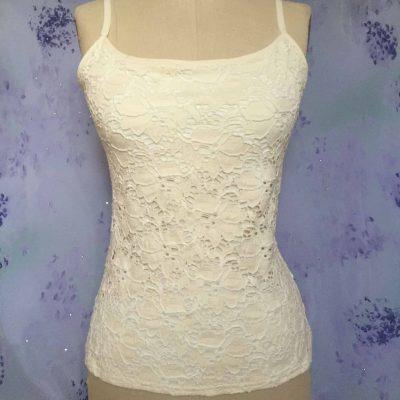 """""""Alise"""" Jacquard Cotton Lace Top"""