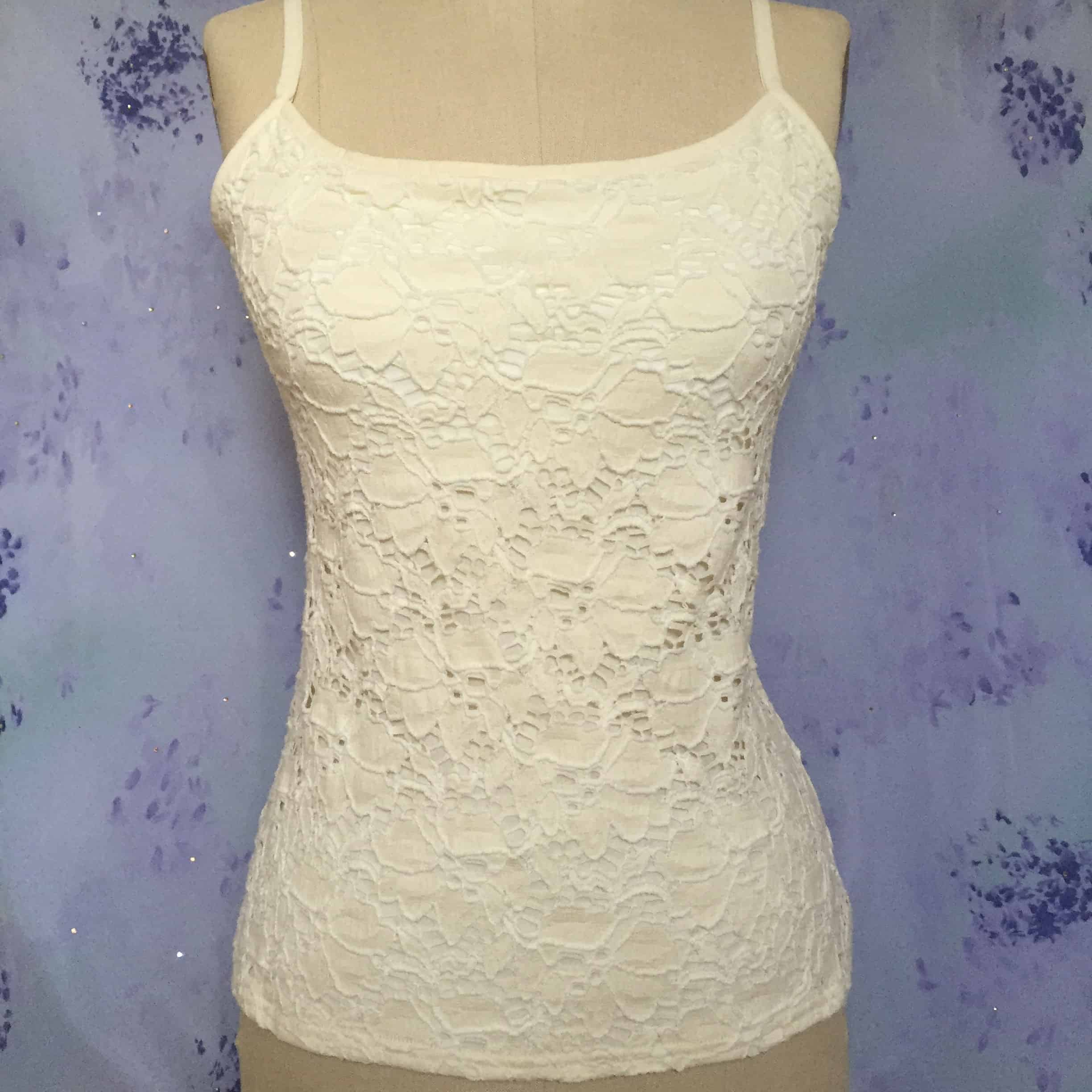 """Alise"" Jacquard Cotton Lace Top"