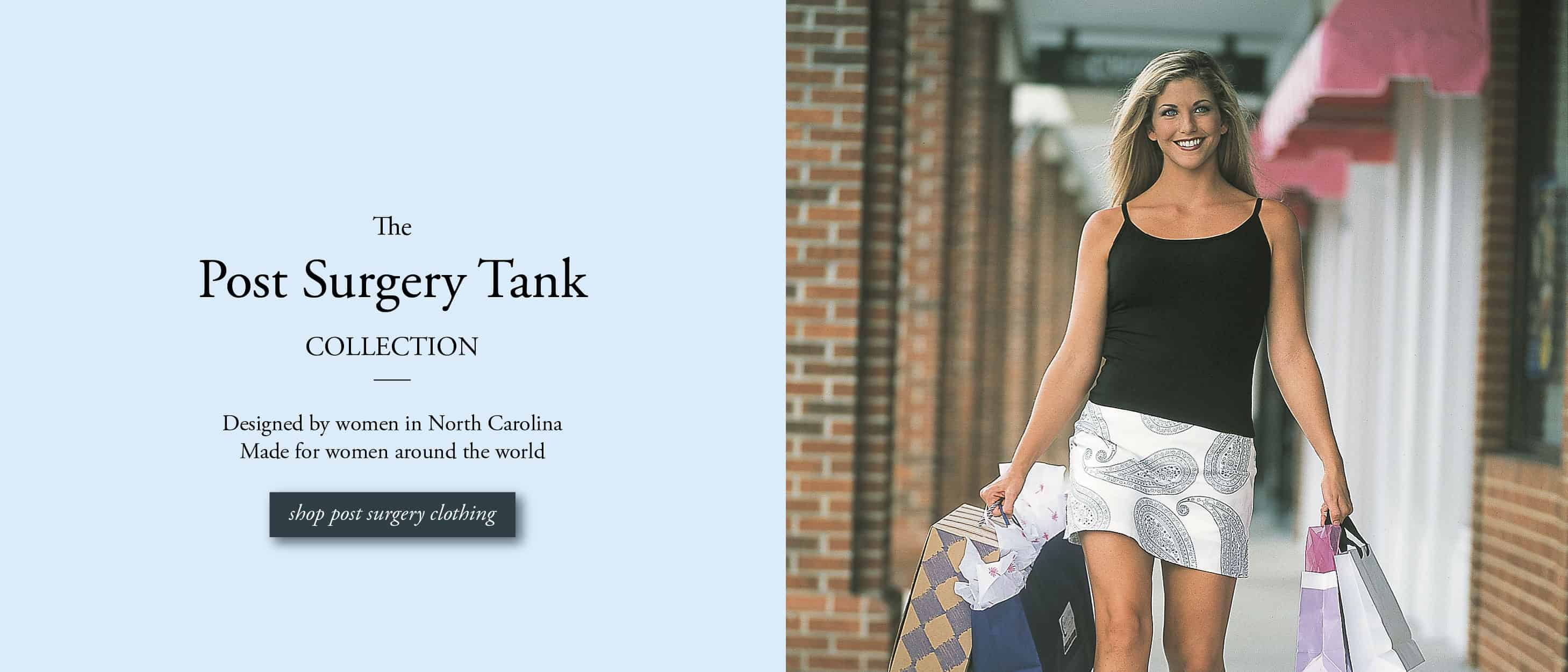 Post Surgery Tank in Breast Cancer post-surgery clothing